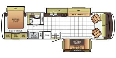 Find Specs for 2016 Newmar - Bay Star <br>Floorplan: 3402 (Class A)
