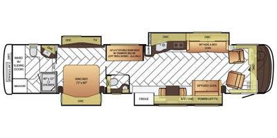 Find Specs for 2015 Newmar - Essex <br>Floorplan: 4599 (Class A)