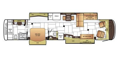 Find Specs for 2015 Newmar - King Aire <br>Floorplan: 4503 (Class A)