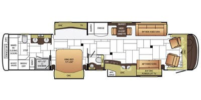 Find Specs for 2015 Newmar - King Aire <br>Floorplan: 4553 (Class A)