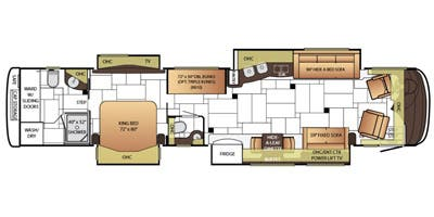 Find Specs for 2015 Newmar - King Aire <br>Floorplan: 4599 (Class A)