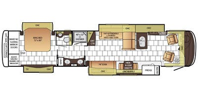 Find Specs for 2015 Newmar - Mountain Aire <br>Floorplan: 4501 (Class A)