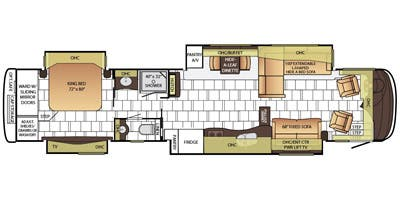 Find Specs for 2015 Newmar - Mountain Aire <br>Floorplan: 4568 (Class A)