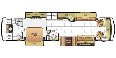 Find Specs for 2015 Newmar - Ventana <br>Floorplan: 4002 (Class A)