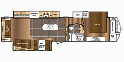 Find Specs for 2015 Prime Time - Sanibel <br>Floorplan: 3601 Residential (Fifth Wheel)