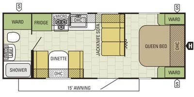 Find Specs for 2015 Starcraft - Autumn Ridge <br>Floorplan: 235FB (Travel Trailer)