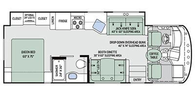 Find Specs for 2016 Thor Motor Coach - A.C.E. <br>Floorplan: 29.3 (Class A)