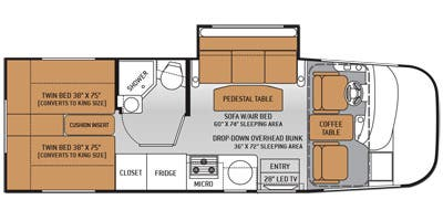 find specs for 2015 thor motor coach - vegas <br>floorplan: 24 1 (