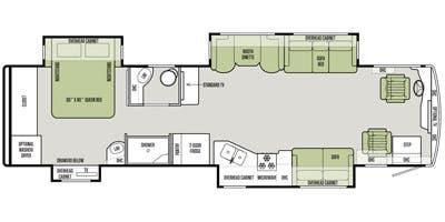 Find Specs for 2015 Tiffin - Allegro Red <br>Floorplan: 36 QSA (Class A)
