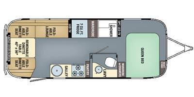 Find Specs for 2016 Airstream - Eddie Bauer <br>Floorplan: 25FB (Toy Hauler)