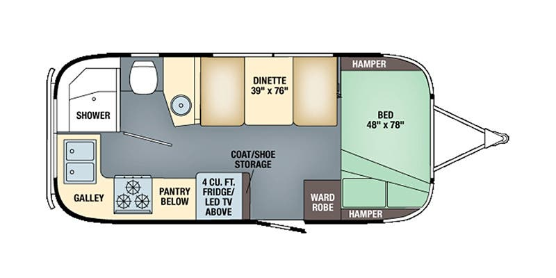 Full Specs for 2019 Airstream Flying Cloud 20FB RVs | RVUSA com