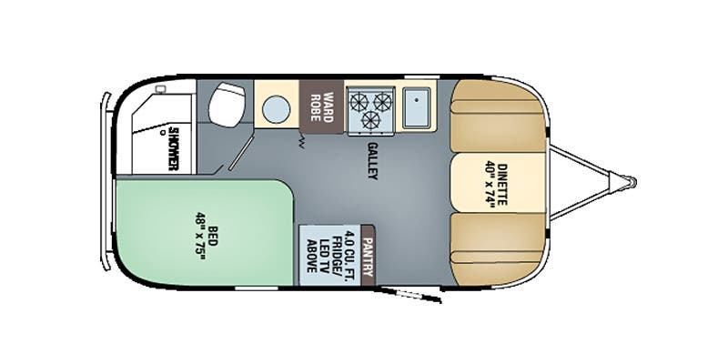 Find Specs for 2016 Airstream - International Signature <br>Floorplan: 19 (Travel Trailer)