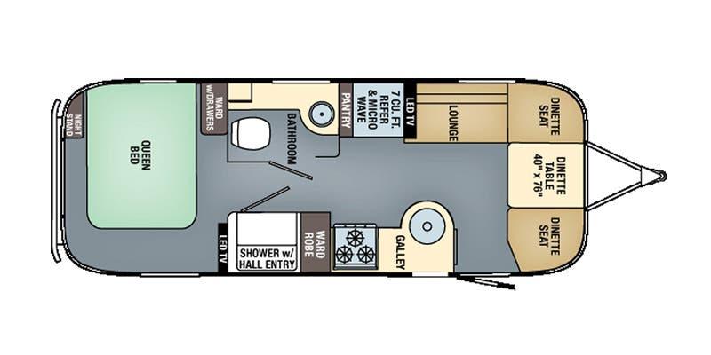 Find Specs for 2017 Airstream - International Signature <br>Floorplan: 25 (Travel Trailer)