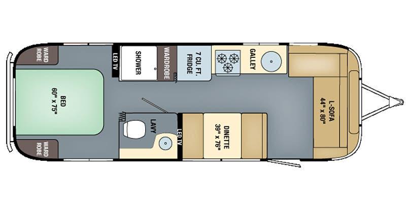 Find Specs for 2016 Airstream - International Serenity <br>Floorplan: 28 (Travel Trailer)