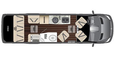 Find Specs for 2016 Airstream - Interstate <br>Floorplan: Lounge EXT (Class B)