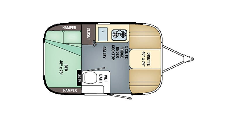 Find Specs for 2017 Airstream - Sport <br>Floorplan: 16 (Travel Trailer)