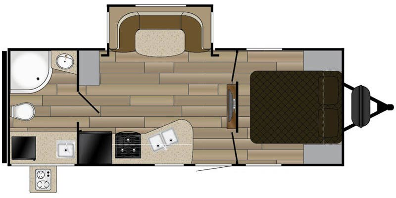 Find Specs for 2016 Cruiser RV - MPG <br>Floorplan: 2250RB (Travel Trailer)