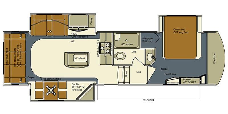 Full Specs For 2016 Lifestyle Luxury Rv Bay Hill 295rl Rvs Rvusa Com