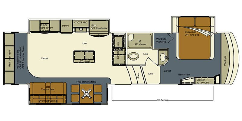 Specs For 2016 Fifth Wheel Lifestyle Luxury Rv Bay Hill Rvs Rvusa Com