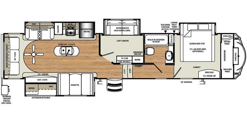 Forest River Motorhome Floor Plans: Full Specs For 2016 Forest River Sandpiper 372LOK RVs