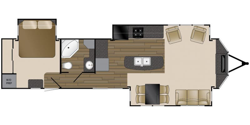Find Specs for 2016 Heartland RV - Breckenridge Lakeview <br>Floorplan: LV 40 FTS (Destination Trailer)