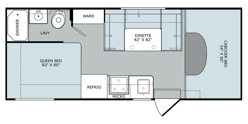 Augusta Rv Floor Plans: Full Specs For 2016 Holiday Rambler Augusta 23B RVs