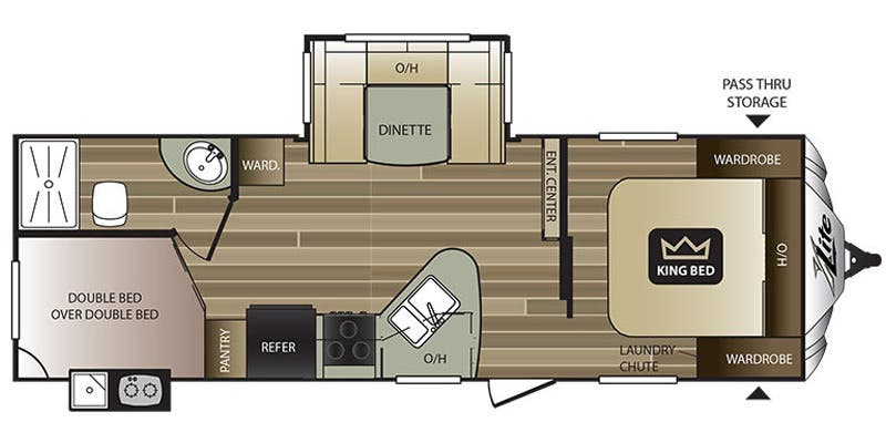 Find Specs for 2017 Keystone - Cougar XLite <br>Floorplan: 25RDB (Travel Trailer)