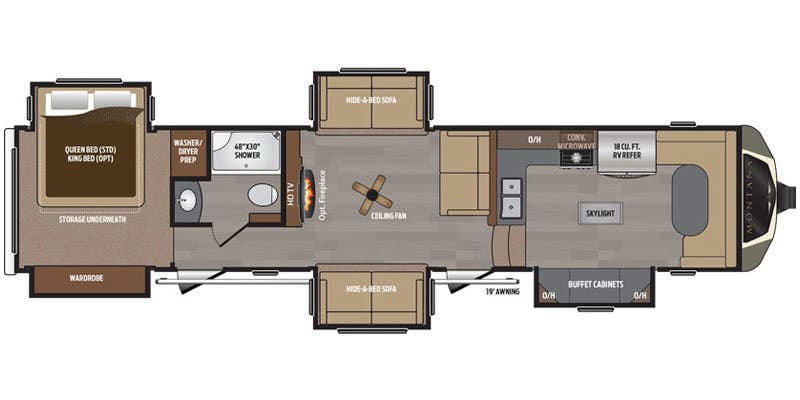 Montana 5th Wheel Floor Plans 2017