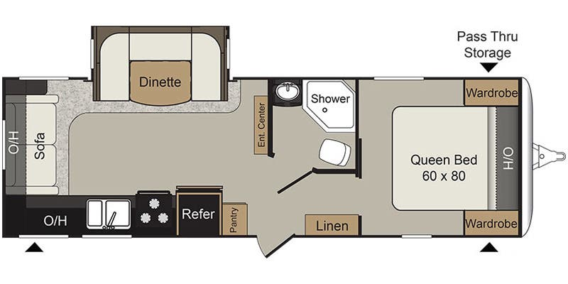 Floor Plan For  Passport Rl Travel Trailer
