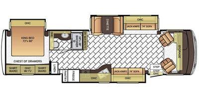Find Specs for 2016 Newmar - Bay Star <br>Floorplan: 3518 (Class A)