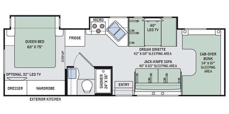 Thor class c motorhome floor plans gurus floor for Elite house plans