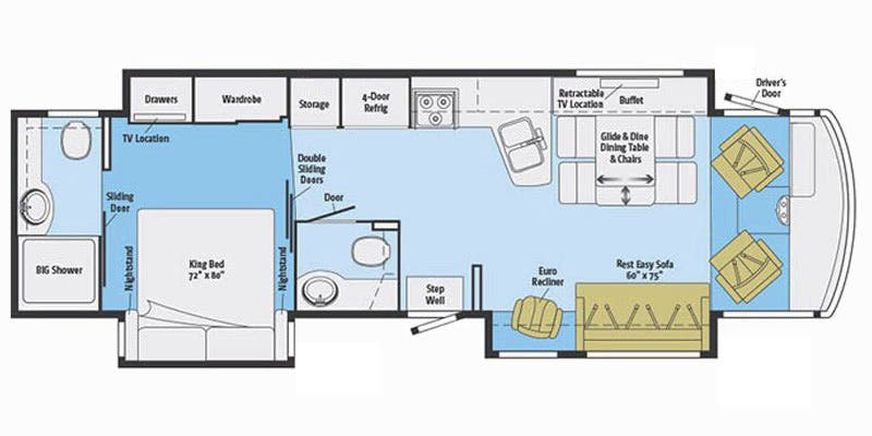 Find Specs for 2016 Itasca - Suncruiser <br>Floorplan: 37F (Class A)