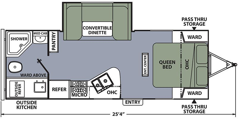 Find Specs for 2017 Coachmen - Apex <br>Floorplan: 215RBK (Travel Trailer)