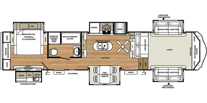 Full specs for 2017 forest river sandpiper 379flok rvs rvusa find specs for 2017 forest river sandpiper brfloorplan 379flok fifth asfbconference2016 Choice Image