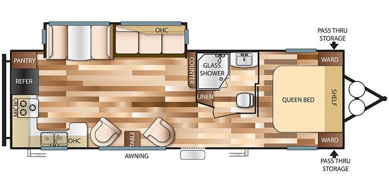 Floor Plan For  Wildwood Rkss Travel Trailer