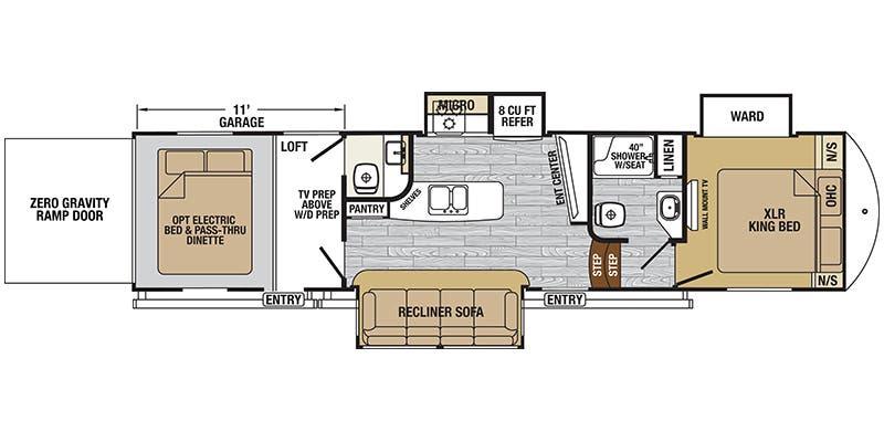 Find Specs For 2017 Forest River Xlr Nitro Br Floorplan 36ti5