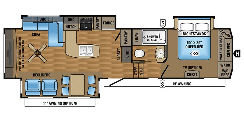 Find Specs For 2017 Jayco   Eagle U003cbru003eFloorplan: 327CKTS (Fifth Wheel