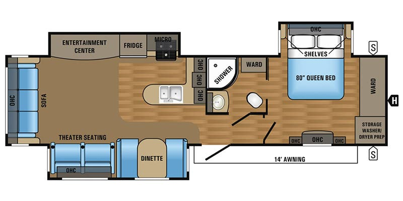 Find Specs for 2017 Jayco - Jay Flight <br>Floorplan: 34RSBS (Travel Trailer)