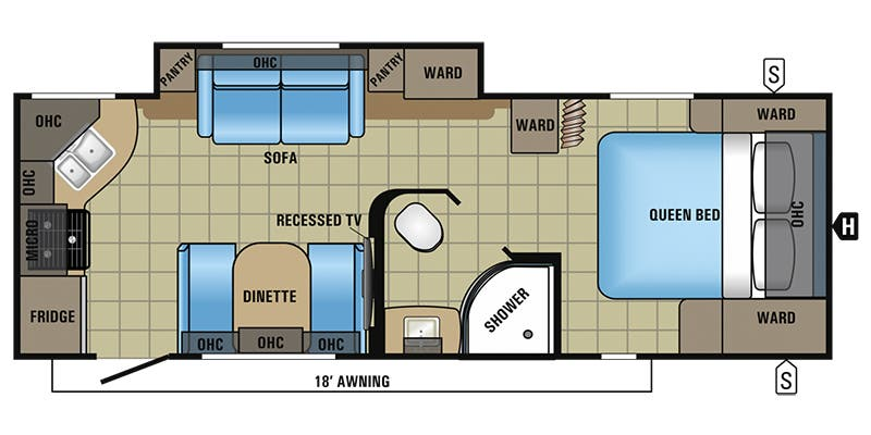 Find Specs for 2017 Jayco - White Hawk <br>Floorplan: 24RKS (Travel Trailer)