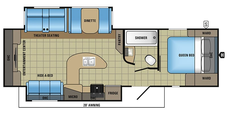 Find Specs for 2017 Jayco - White Hawk <br>Floorplan: 29REKS (Travel Trailer)