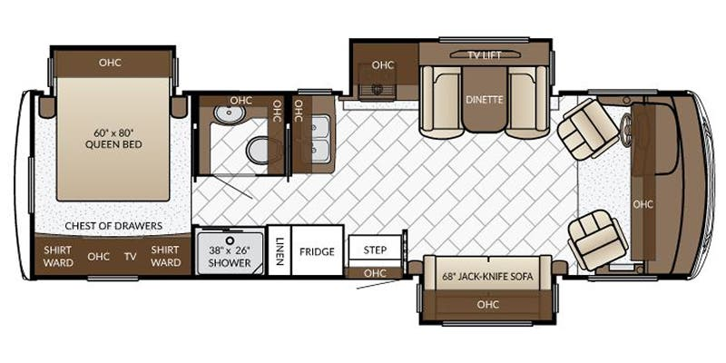Find Specs for 2017 Newmar - Bay Star <br>Floorplan: 3009 (Class A)