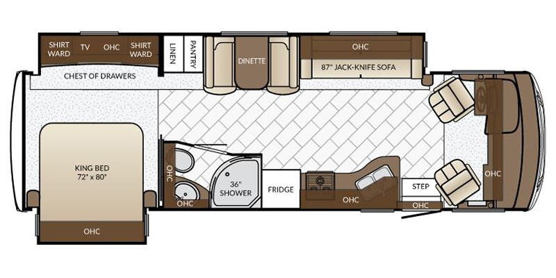 Full specs for 2017 newmar bay star 3124 rvs rvusa find specs for 2017 newmar bay star brfloorplan 3124 class cheapraybanclubmaster Images