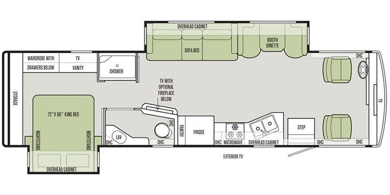 Open Road Fifth Wheel Floor Plans: Full Specs For 2018 Tiffin Allegro 32 SA RVs