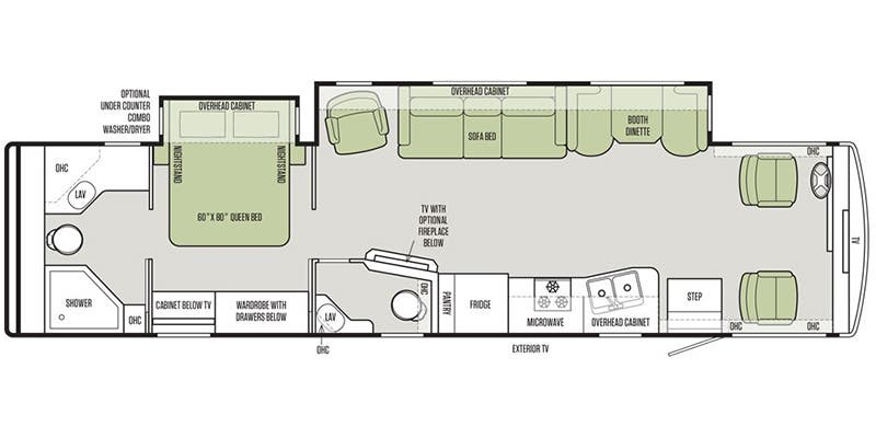Open Road Fifth Wheel Floor Plans: Full Specs For 2017 Tiffin Allegro 36 LA RVs
