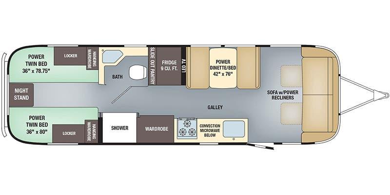 Full Specs For 2018 Airstream Classic 30rb Twin Rvs Rvusa Com