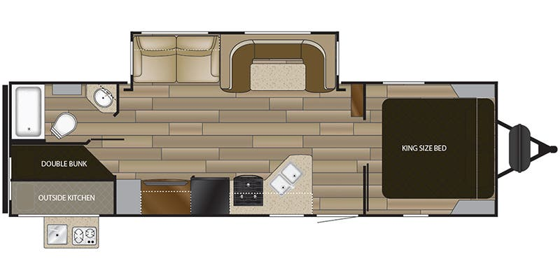 Find Specs for 2018 Cruiser RV - MPG <br>Floorplan: MPG 2750BH (Travel Trailer)