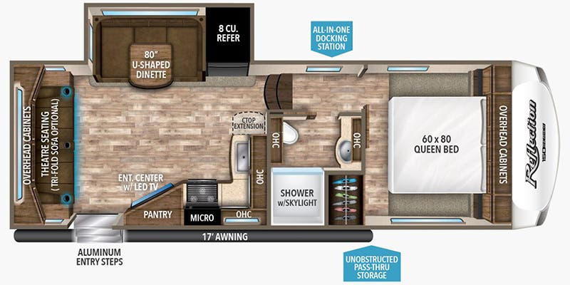 Find Specs for 2019 Grand Design - Reflection 150 Series <br>Floorplan: 230RL (Fifth Wheel)