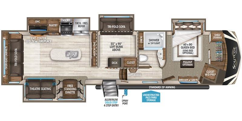 Specs for 2018 toy hauler grand design solitude rvs - Grand design solitude floor plans ...