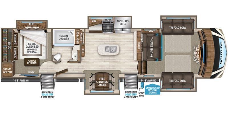Full Specs For 2018 Grand Design Solitude 379fls Rvs Rvusa Com,Interior Design Small Bathroom Ideas 2020
