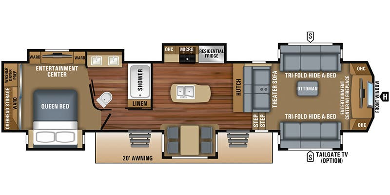 2018 Jayco North Point (Fifth Wheel)